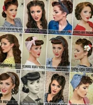 50s hair tutorials ideas