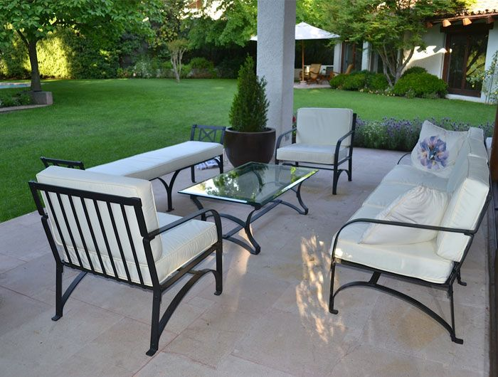 Muebles de terraza en fierro forjado mario guevara rico for Muebles de jardin de hierro forjado