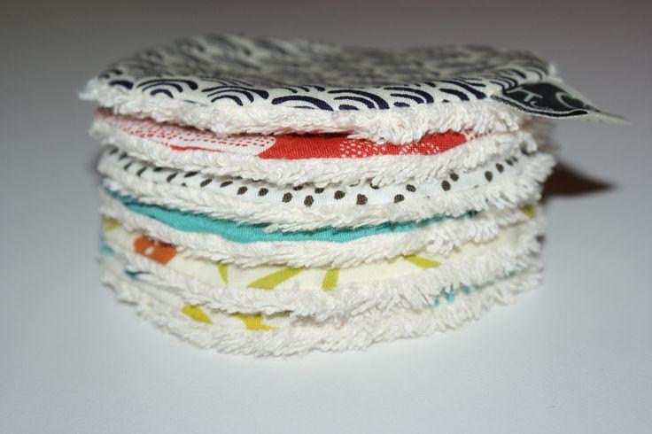 Disques à démaquiller lavables en Coton Bio imprimé : Soin, bien-être par kumoandfriends