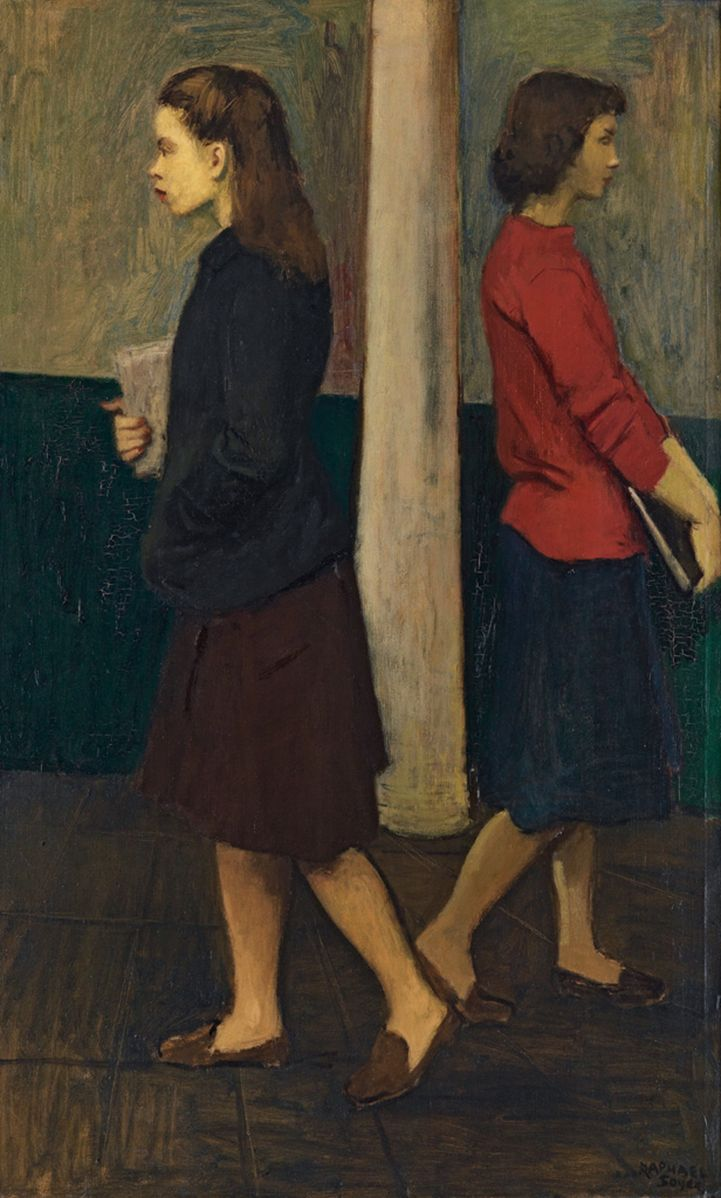 Two Sisters. Raphael Soyer 1899 - 1987