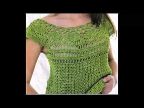 Blusa Verde Calado Perfecto a Crochet - YouTube