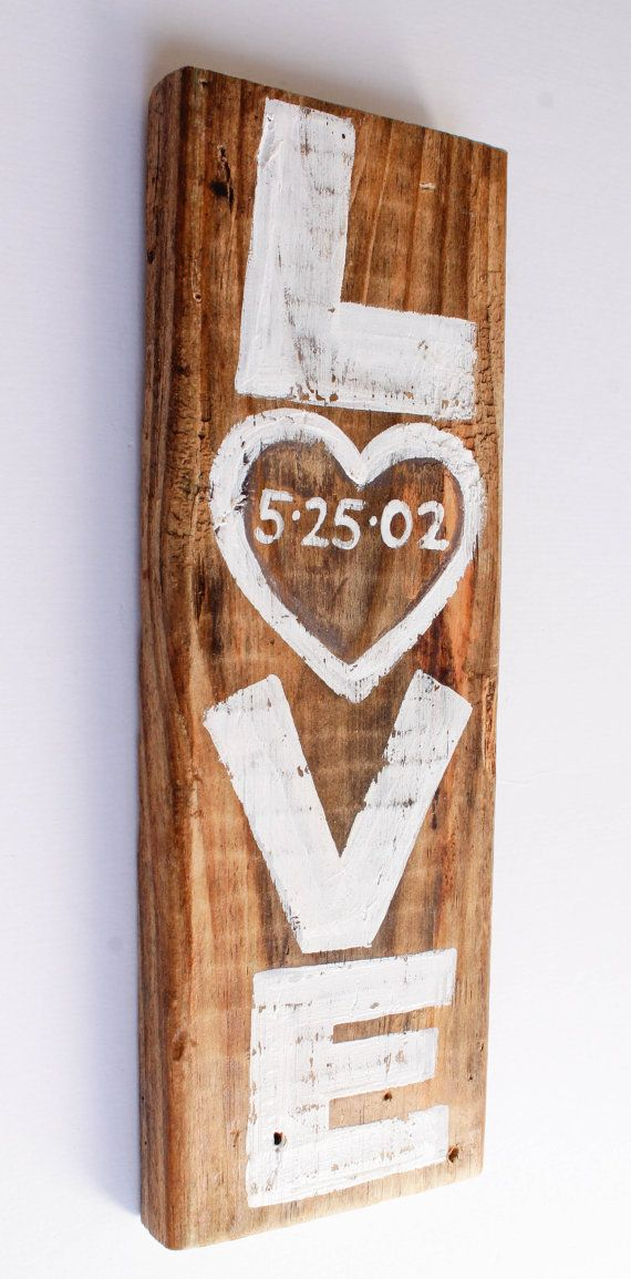 Custom Rustic White Wedding Sign Decor Personalized by MangoSeed