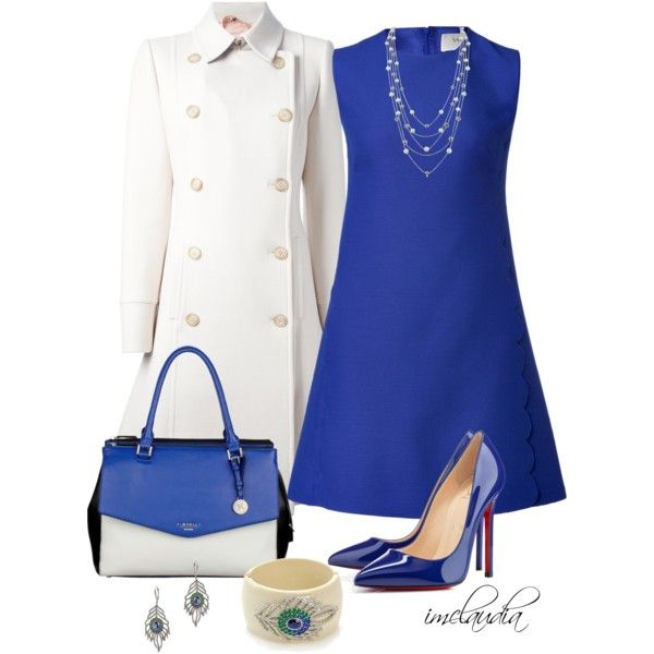 Blue and White, created by imclaudia-1 on Polyvore