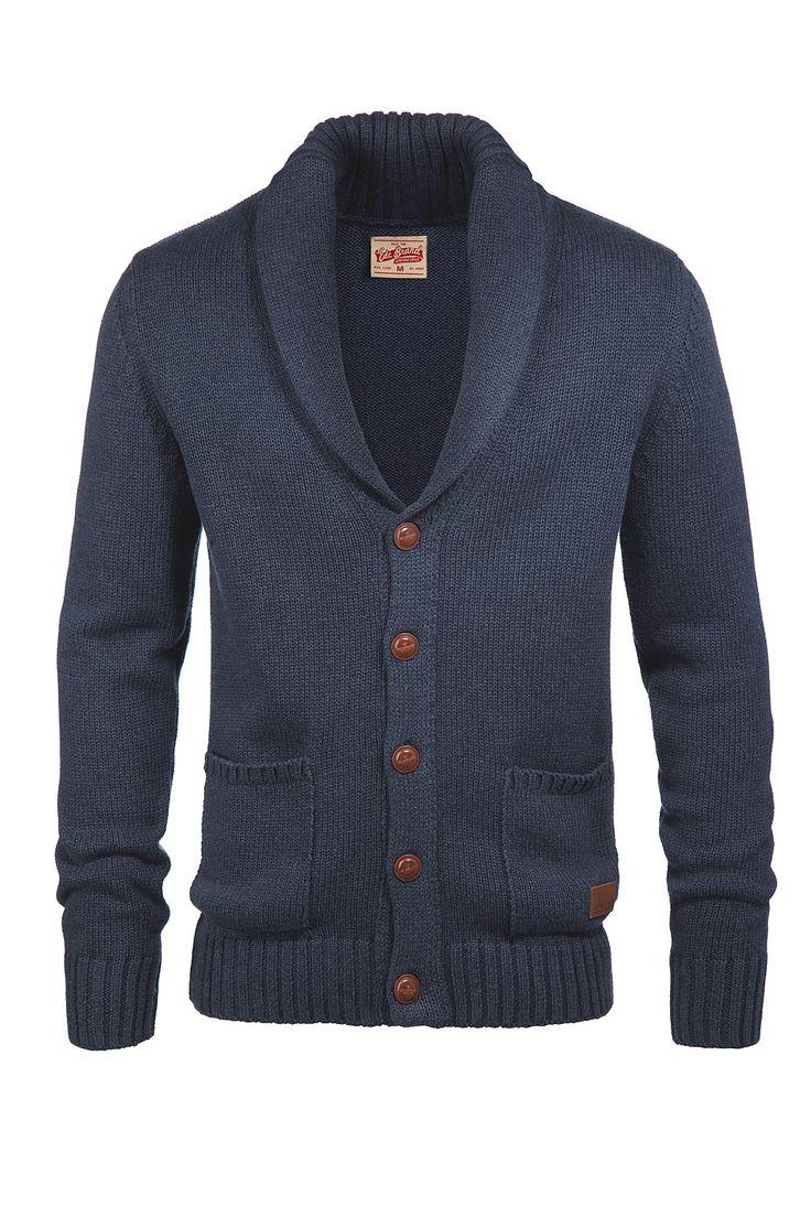 Men's #Fashion: Schalragen Cardigan EDC - Esprit Online-Shop... nice looking sweater with contrasting buttons.