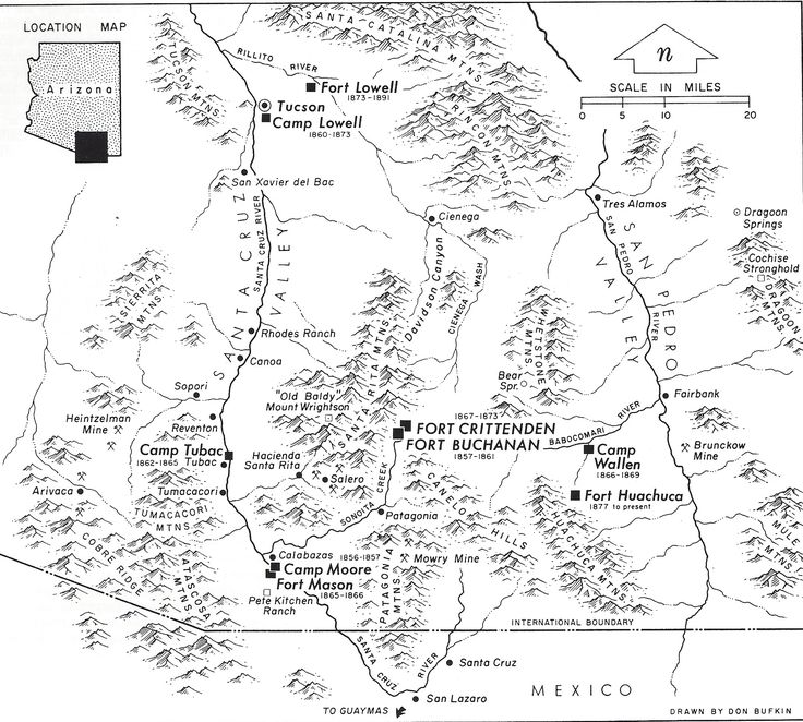 93 Best Fort Lowell Arizona Images On Pinterest Army: Map Of Arizona Forts At Usa Maps