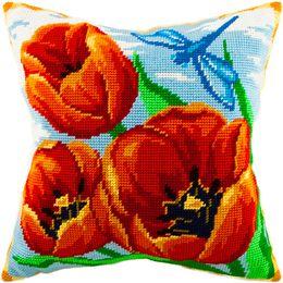 Красные тюльпаны, Чарівниця/Brvsk, Вышивка крестом | интернет-магазин вышивки Stitch World