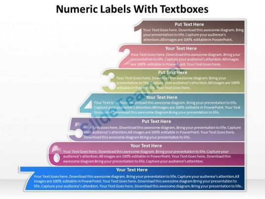 business powerpoint templates numeric labels withtextboxes sales ppt