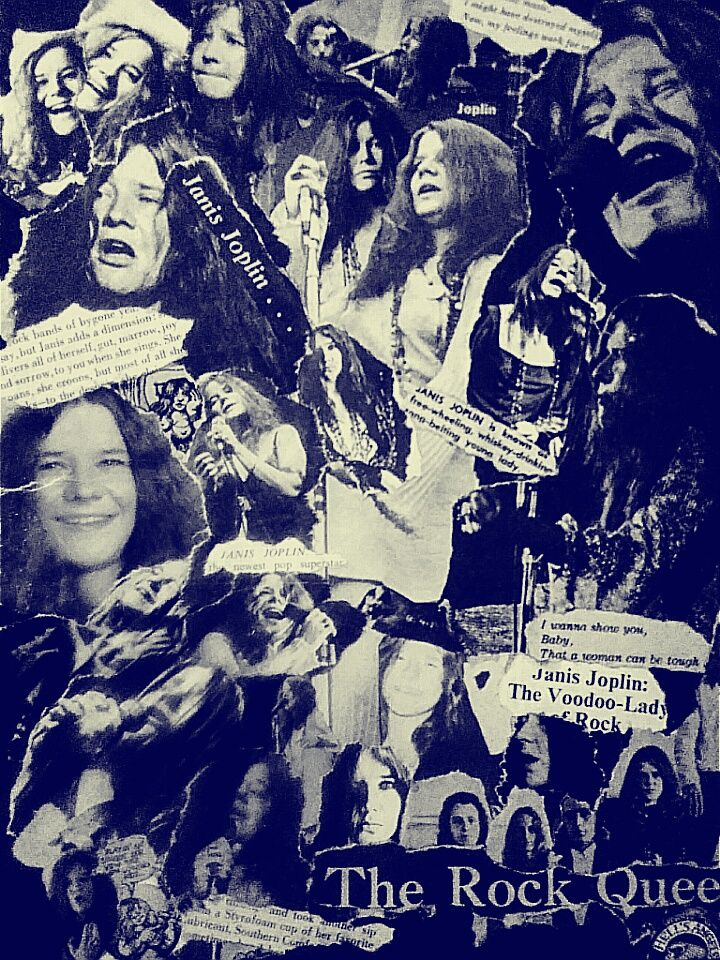 Joplin Rock Queen Collage Janis Joplin Concert Posters