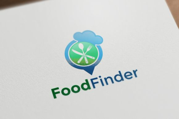 Food Finder Logo by REDVY on Creative Market