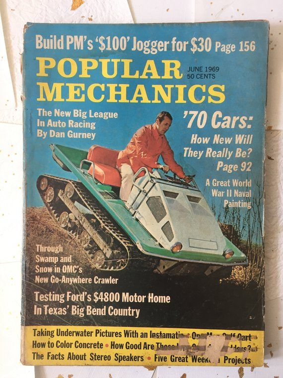 Popular Mechanics June 1969 Vintage Magazine Old Book