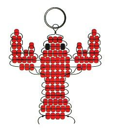 Beaded Lobster Key Chain Pattern. @Melissa Tsuleff do you remember when we would make these?!