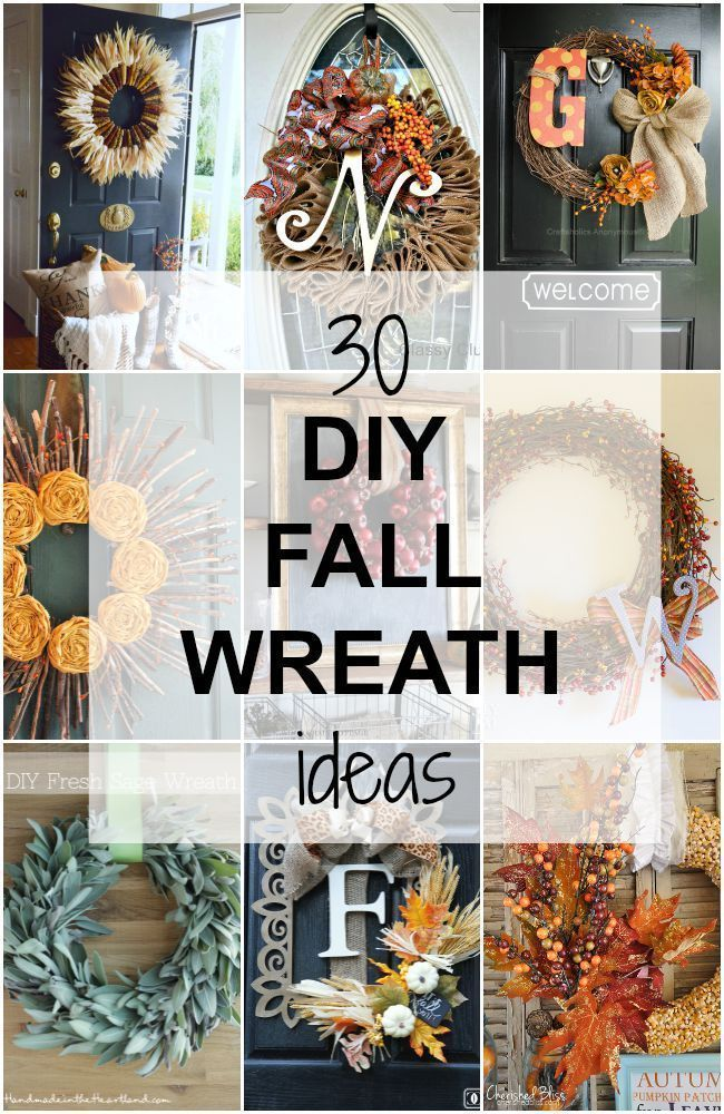 30 DIY Fall Wreath Ideas to get your porch ready for Fall!