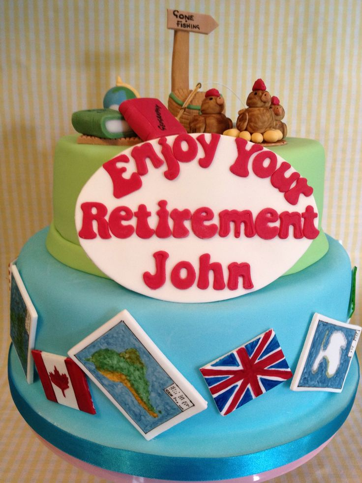 50 best images about retirement and going away cakes on ...