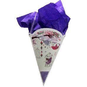 Gift Cone - Medium - Bird -   GCONMBIR