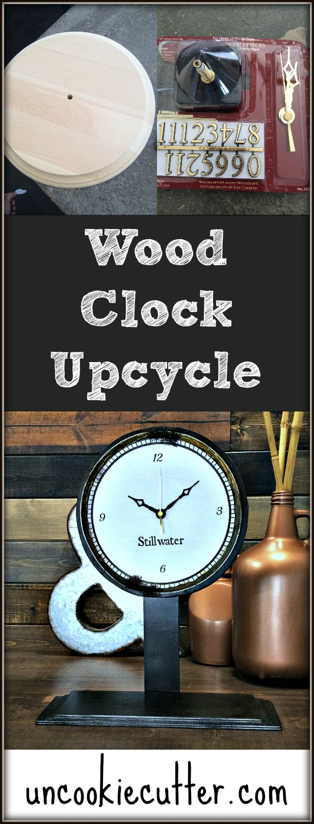 Tabletop Clock - Plain wood clock kit upcycle - March Create and Share…