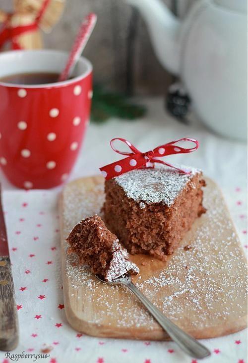 Pfefferkuchen-Kuchen mit Preiselbeeren