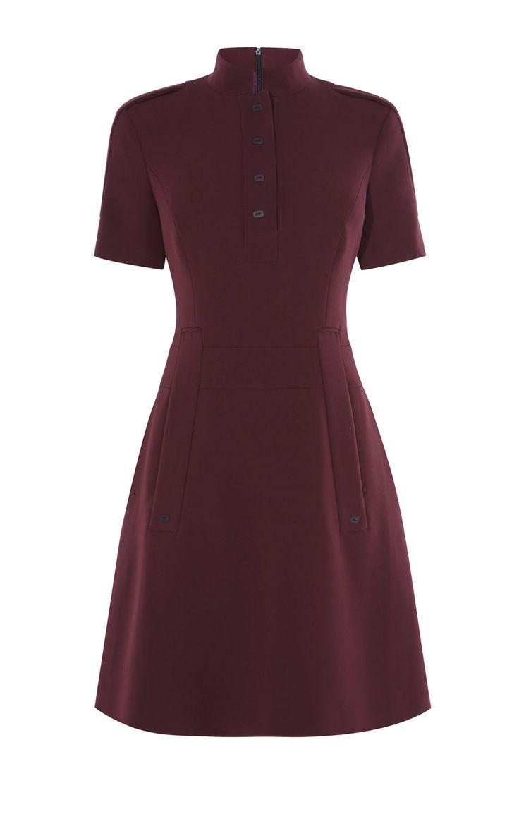 MANDARIN-COLLAR DRESS | Karen Millen