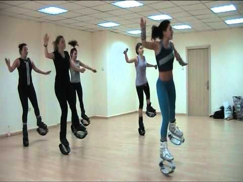Latino Kangoo jumps with July - YouTube