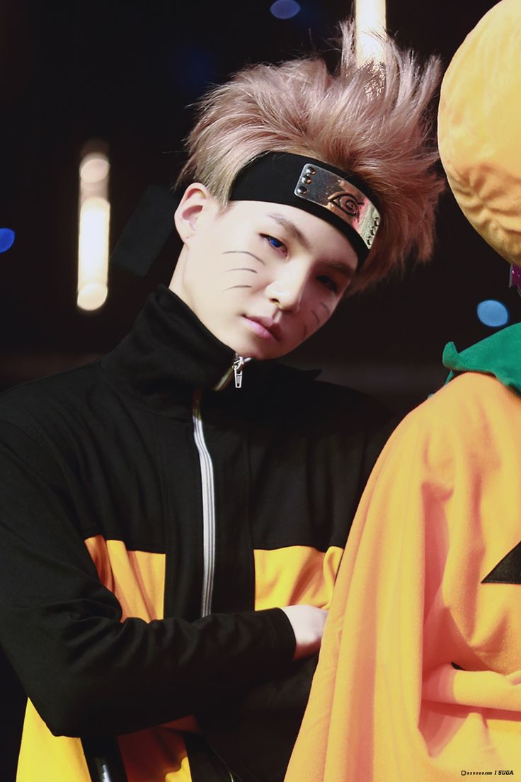 Naruto Yoongi! I'm sorry V sweetie, but he has the best costume this year…