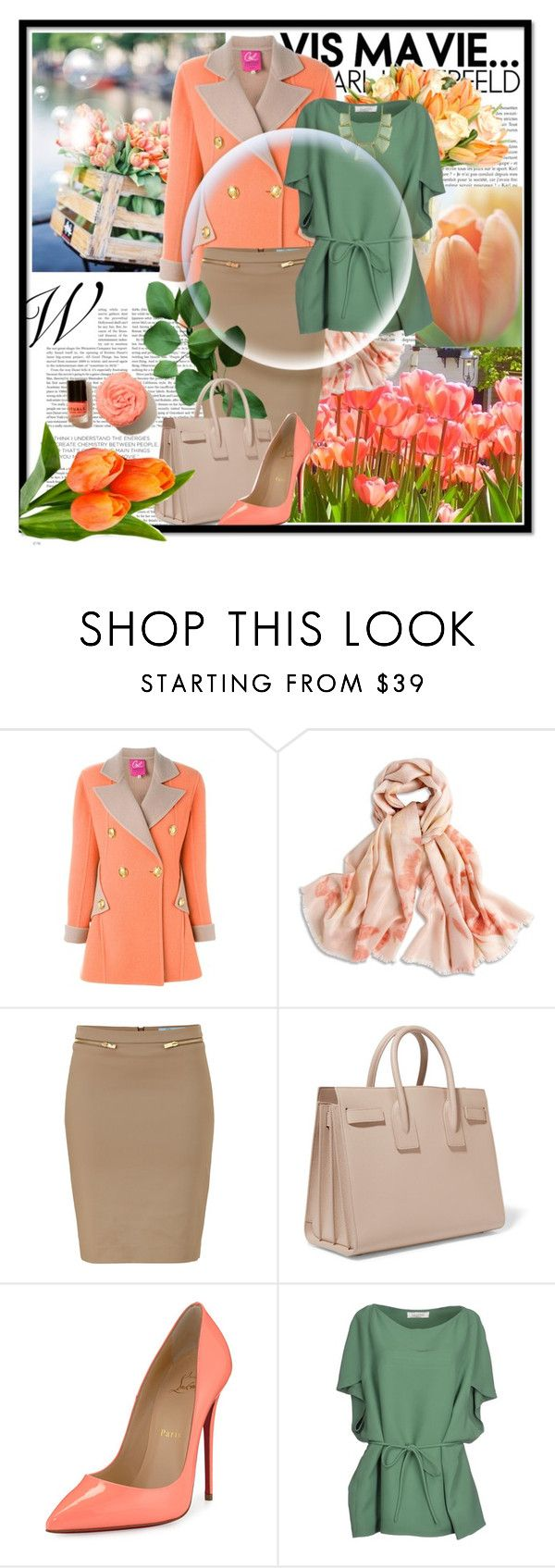 """""""The 8th of March! Working day"""" by julia-kesar ❤ liked on Polyvore featuring Christian Lacroix, Chico's, Blumarine, Yves Saint Laurent, Christian Louboutin, Valentino and Karen Kane"""