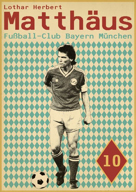 Lothar Matthäus - Sucker for Soccer on Behance