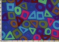 Brandon Mably Fabric, Puzzle Cobalt (per 1/4 metre)
