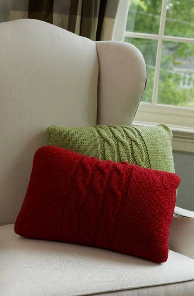 Cabled Pillows in Red Heart With Love Solids - LW3694. Discover more Patterns by Red Heart Yarns at LoveKnitting. The world's largest range of knitting supplies - we stock patterns, yarn, needles and books from all of your favorite brands.