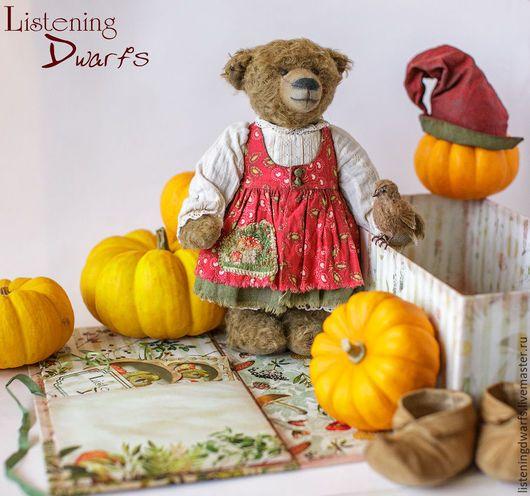 Teddy Bears handmade. Livemaster - handmade. Buy SALE! Teddy Bear Helga and her little friend Svein OOAK FREE SHIPPING. #teddy #bear #teddybear #handmade #artdoll #ooakteddy #toy #bunny #teddybunny #rabbit #teddyrabbit #motherday