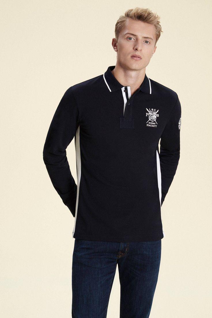 Polo manches longues frange latérale LRC - Polos - Clothing - Hommes | Hackett