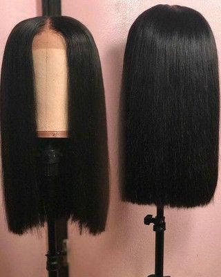 14″ Straight Bob Wigs For African American Women T…