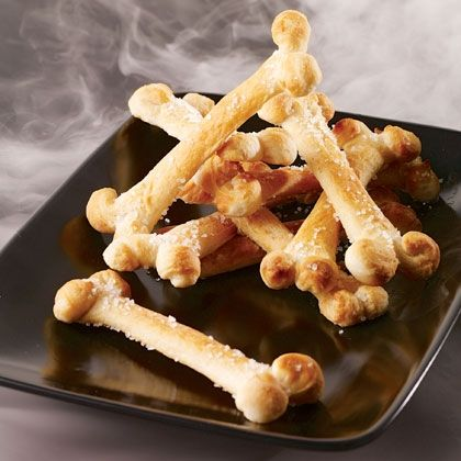 It wouldn't be Halloween without a skeleton in this case, one that's been reassembled into a pile of tasty bones to pick.