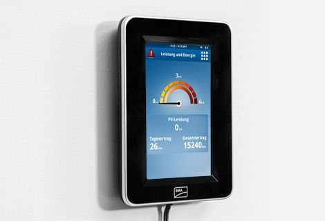SMA Sunny View Touch Display Monitoring for Solar Panels for home