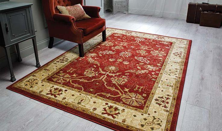 tappeto disegno persiano colore rosso