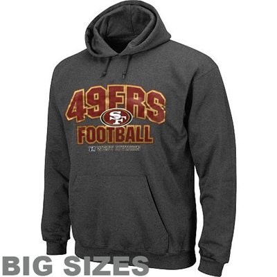 San Francisco 49ers Division Big Sizes Pullover Hoodie - Charcoal