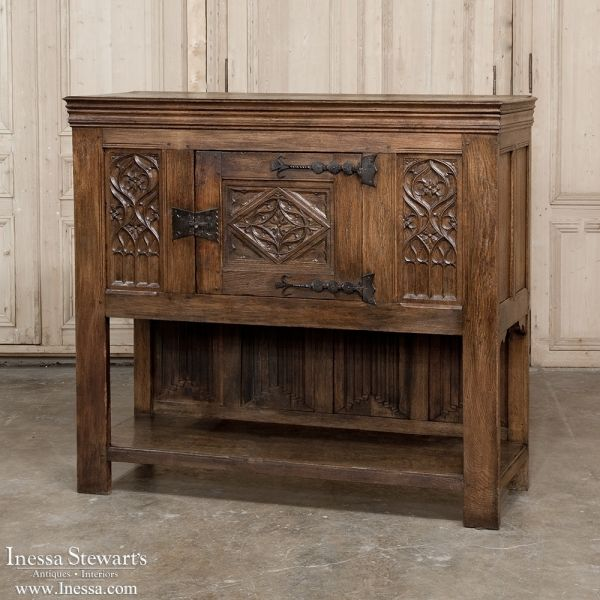 Antique Furniture   Antique Buffets and Sideboards   Renaissance/Gothic  Buffets   19th Century Gothic - 685 Best ANTIQUE FURNITURE Images On Pinterest Desks, 19th