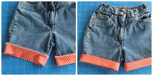 Jeans to Shorts Refashion - Tutorial - Sew Delicious