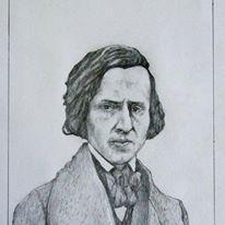 Portret F . Chopina  . T . Kwiatkowski .
