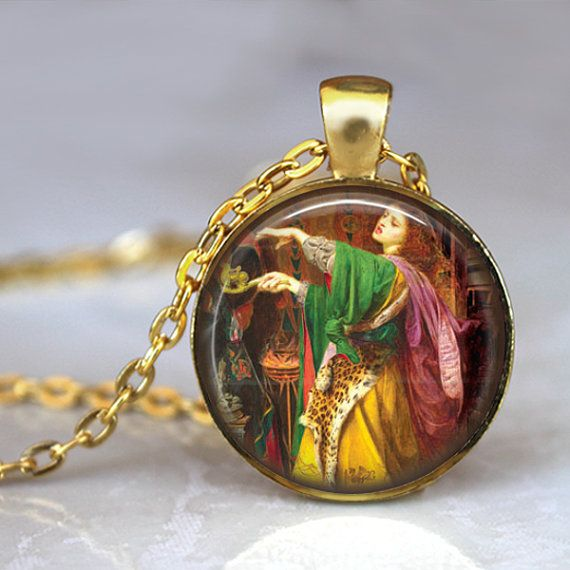 WICKED WITCH Necklace Vintage Pendant Gold  by LiteraryArtPrints