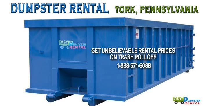 York, PA at Easy Dumpster Rental Dumpster Rental in York,Pennsylvania Get Unbelievable RentalPrices on TrashRollOff Click To Call 1-888-792-7833Click For Email Quote HowWe Can Offer AmazingRoll Off Dumpster Service In York: Unlike other dumpster companies, Easy Dumpster Rentalputs the customer first and foremost in all we ... https://easydumpsterrental.com/pennsylvania/dumpster-rental-york-pa/