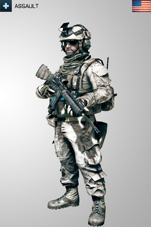 Battlefield 3 Assault USA Soldier Iphone Wallpaper by ~Kikkah070 on deviantART