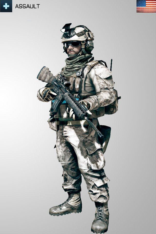 Battlefield 3 Assault USA Soldier Iphone Wallpaper by ~Kikkah070 on deviantART