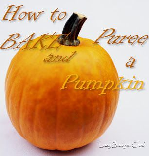 how to bake and puree a fresh pumpkin for Halloween or Thanksgiving pie