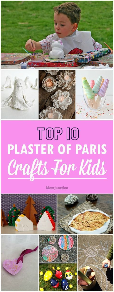 If you are brave enough to play with kids and plaster of paris then these crafts would be so fun!!