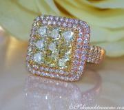 Exquisiter gelbe Diamanten Ring mit Brillanten image