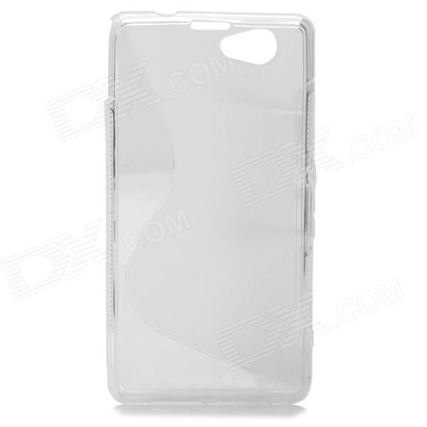 Color: Translucent White; Brand: N/A; Model: N/A; Material: TPU; Quantity: 1 Piece; Compatible Models: Sony Xperia Z1 Mini / Xperia Z1S / Xperia Z1 f / D5503; Other Features: Protects your device from scratches, dust and shock; Packing List: 1 x Protective case; http://j.mp/VIMhPD