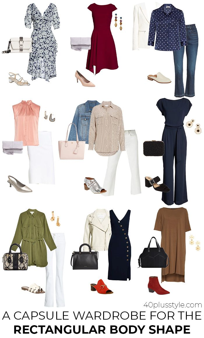 How to dress the rectangle body shape: Flattering clothes for the