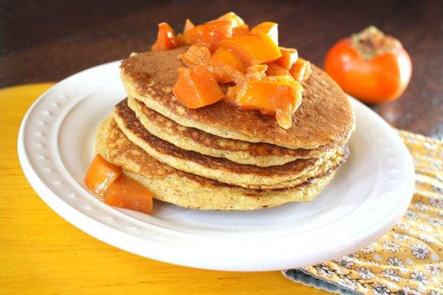 Persimmon Cornmeal Pancakes | Breakfast of Champions | Pinterest
