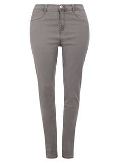 **DP Curve Light Grey Fly Front Jeggings