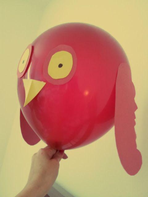 Der Bastelblog: Lustige Luftballontiere - Eule DIY