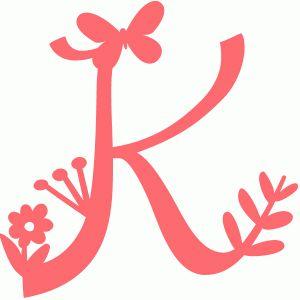 Silhouette Online Store - View Design #58959: spring letter k